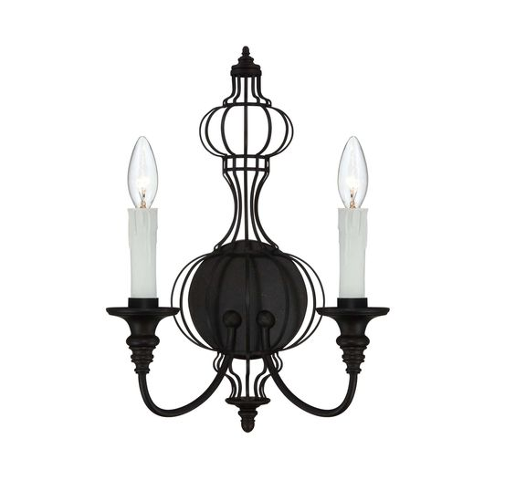 Savoy House Abagail 2-Light Wall Sconce in Forged Black