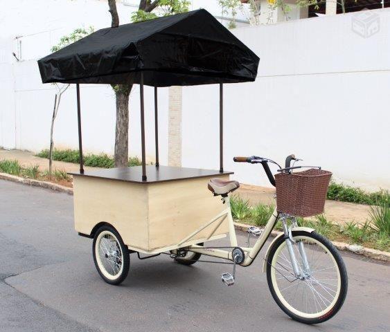 Triciclo para churros, açaí, pipoca e outros