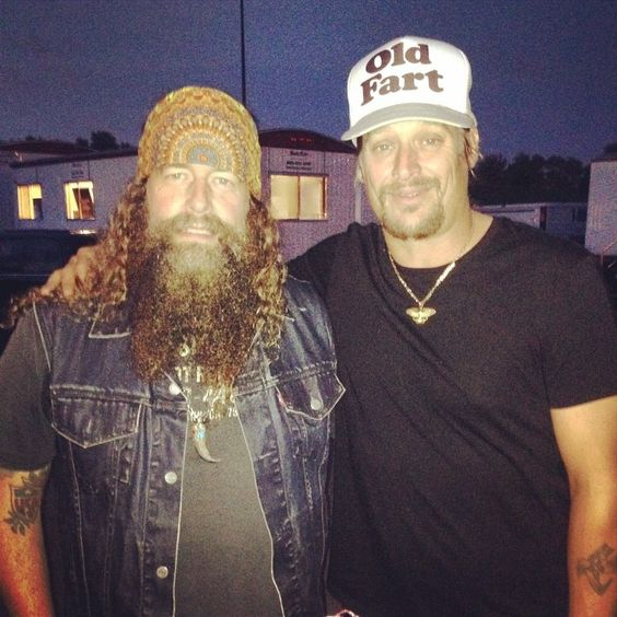 Brit Turner from Blackberry Smoke and MY MAN, Mr Kid Rock!  St. Paul, MiN. .Made in Detroit #kidrock — at Minnesota State Fair.