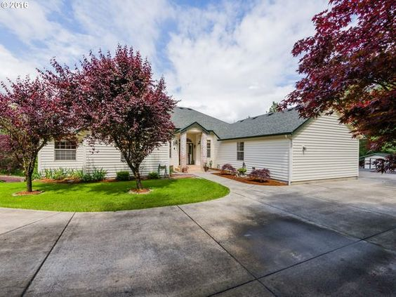 For Sale: $569,900. 32 Photos. 4 bed, 3.5 bath, 3,408 sqft house at 23506 NE GOLD NUGGET DR. STUNNING! INCREDIBLE! PEACEFUL, PRIVATE! PAMPERED! MASTERFULLY CRAFTED & THOUGHT OUT! 1 level home & shop & guest quarters/apartment up paved/gated tree lined drive.  Plush landscaping, hardwoods throughout, island kit w/slab granite, mstr bath w/granite, jet tub, huge walk-in. Vaulted great room w/tight knot cedar ceilings, SS appliances, Pool w/salt water system, 28x40 shop! Creek frontage w/small…
