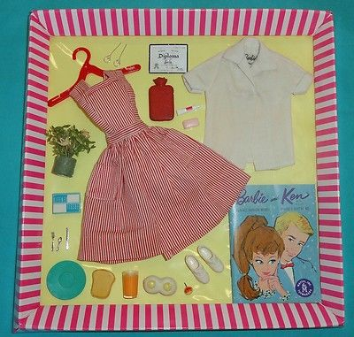 Vintage Barbie Candy Striper Volunteer #889 VGC+ SOAP KLEENEX SHOES re-BOX+ | eBay