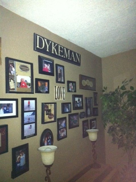 One of my Walls in my family room..always adding more photos to it.