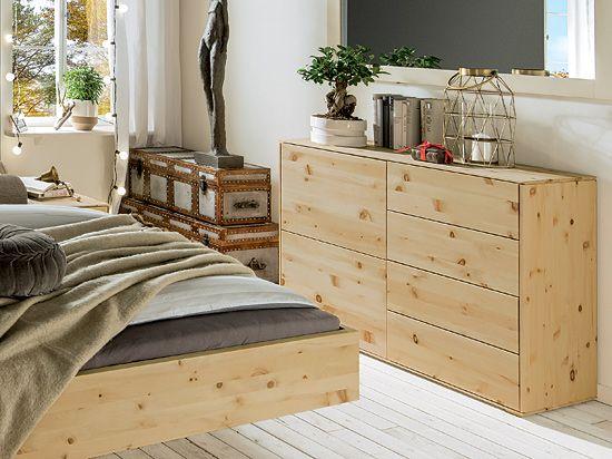 Kommode Kuraki in Zirbe 180cm breit Zirbenbett Pinterest - zirbenholz schlafzimmer modern