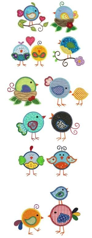 Embroidery | Free Maching Embroidery Designs | Sweet Tweets Applique by sweetiepie2:
