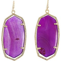 Adore the brilliant purple of these Kendra Scott earrings.