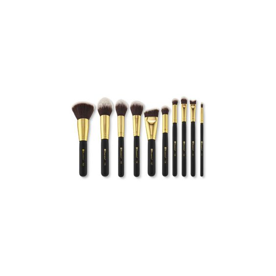 Sculpt and Blend 2 10 Piece Brush Set (¥2,345) ❤ liked on Polyvore featuring beauty products, makeup, makeup tools, makeup brushes, set of makeup brushes and set of brushes