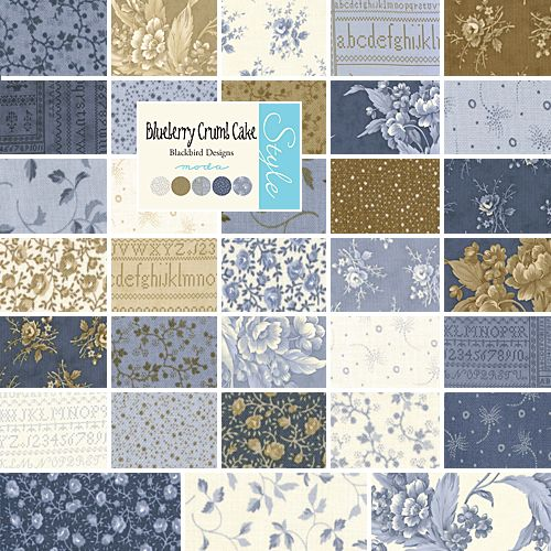 Blackbird Designs Blueberry Crumb Cake 10 Layer Cake Fabric Squares Moda Ebay Blackbird Designs Moda Fabric Collections Layer Cake Fabric