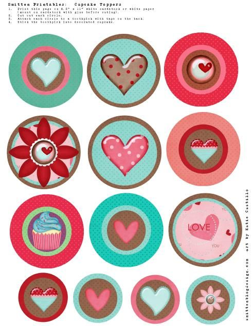 Free Printable Cupcake Toppers Cake Topper Pinterest