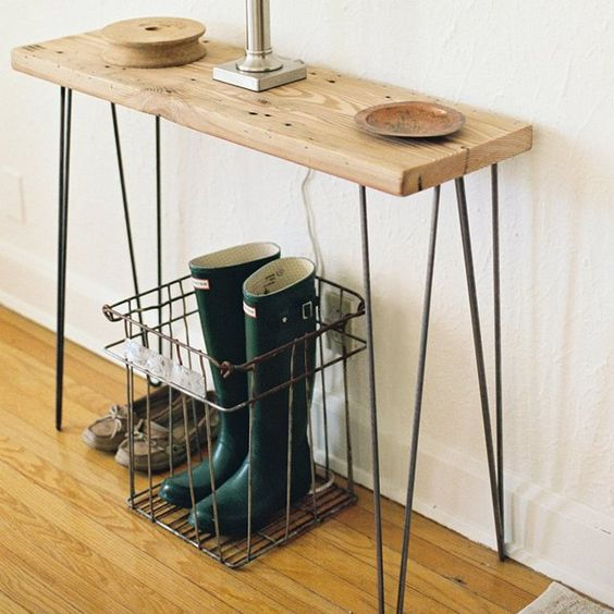 Fancy - Reclaimed Wood Urban Loft Console Table/Small Desk