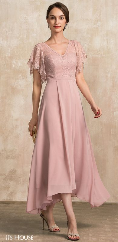 Mother Of The Bride Mother Of The Groom Dresses 2020 In 2020 Dusty Rose Dress Chiffon Lace Mother Of The Bride Dresses Long