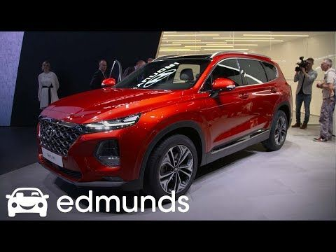 2019 Hyundai Santa Fe Unveil Edmunds Youtube Hyundai Santa