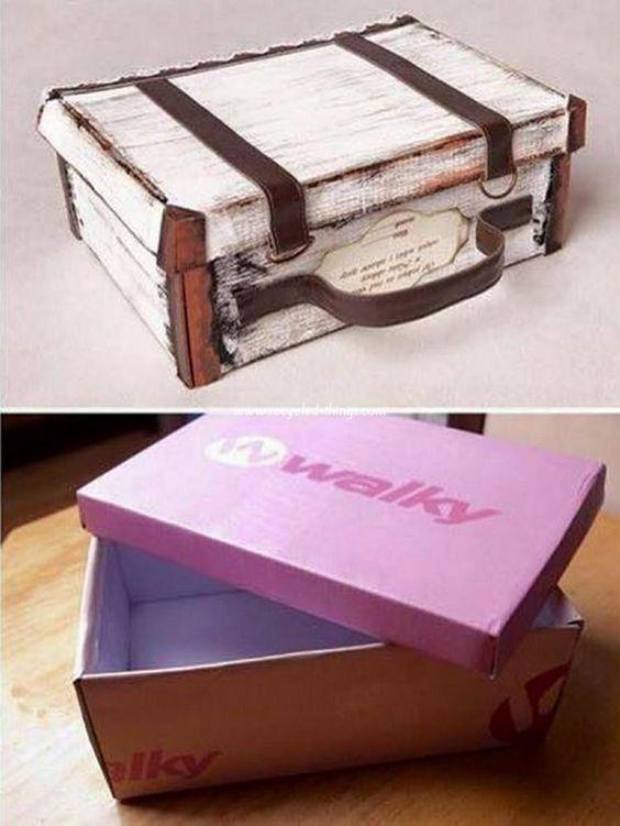 Upcycled Shoe Boxes