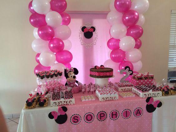 Decoração da Minnie rosa