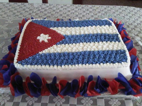 Cake de cumpleaños estilo bandera cubana / Cuban-flag birthday-cake