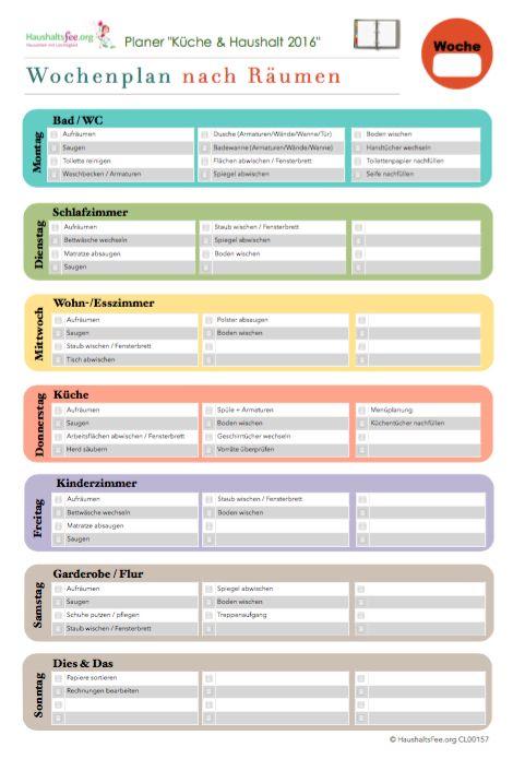 Monats-Putzplan: Jeden Monat kostenlos   Kostenlose Checklisten – Haushaltsfee-Shop ✅ – Haushalt ✅ Putzen ✅ Checkliste ✅