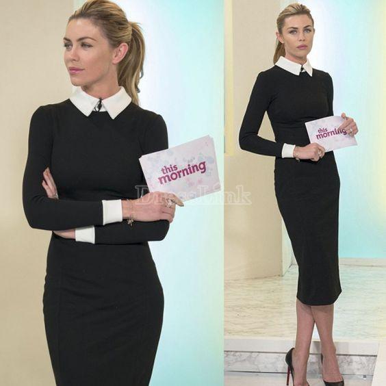 Bureau Business crayon tonique formelle Slim Stretch robe femmes de printemps