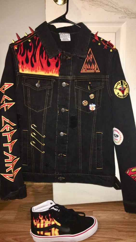 Thrasher Death Leopard custom jacket and Thrasher Vans $200