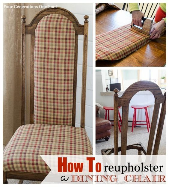 My mom has had her original dining chairs for 30+ years and she finally asked me to recover them! Do you have dining chairs you would love to reupholster? Come see how we changed my mom's chair fabric in under 1 hour! Quick & easy tutorial! @Four Generations One Roof