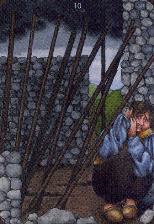 Ten of Wands - Anna.K Tarot by Anna Klaffinger
