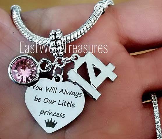 Custom Number 21 Birthday Girl jewelry gift charm pendant Bracelet Necklace