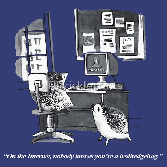 On the Internet, nobody knows you're a hedgehog.