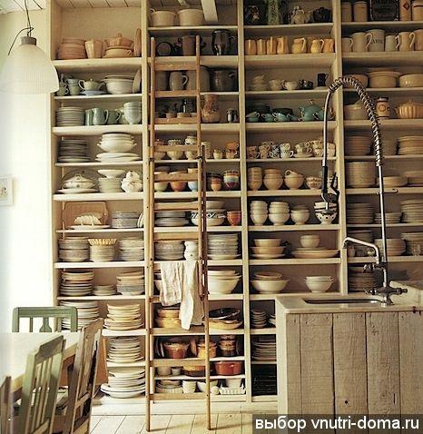 Стеллажи для хранения посуды