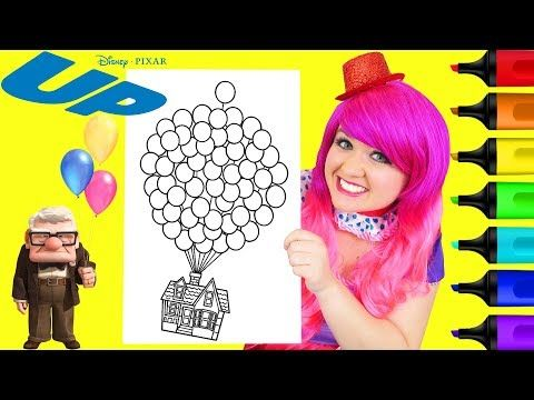 Coloring Disney Pixar Up House Balloons Coloring Page Prismacolor Markers Kimmi The Clown Youtube Disney Pixar Up Disney Pixar Disney Colors