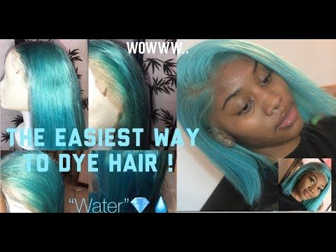 Watch Me Water Dye This Hair In 5mins Ft Water Color Method