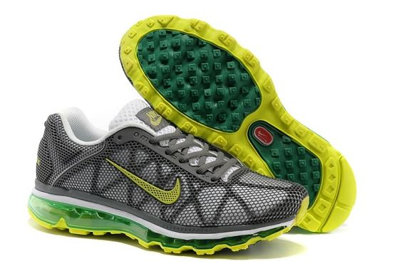 Nike Air Max 2013 Mesh Men's shoes Grey/Green YX