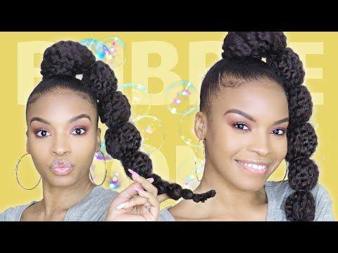 Perfect Bubble Ponytail Using Marley Braiding Hair Natural Hair