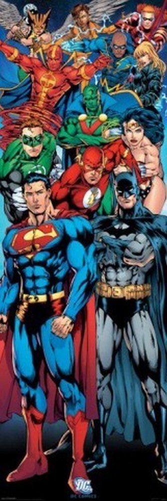1art1 58694 Poster de Porte Ligue de Justice d'Amérique DC Comics Super-Héros 158 x 53 cm: Amazon.fr: Cuisine & Maison