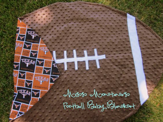 Football baby blanket - I know a future baby that will be getting a cowboys version of this!
