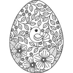 Free Instant Download Bird And Flowers Easter Egg Coloring Pages Coloring Coloringbook Easter Egg Coloring Pages Coloring Easter Eggs Easter Coloring Pages