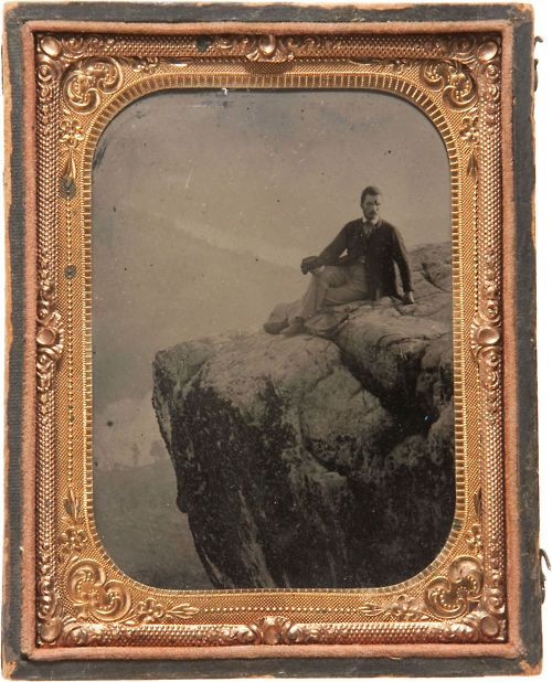 """ca. 1864, """"M. W. Ingle on Lookout Mountain Aged 22 4th July 1864"""""""