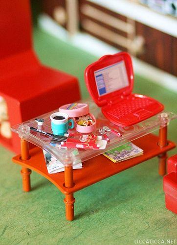 Dollhouse: Living Room: Table by houseofduke, via Flickr