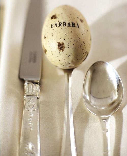 subtle Easter place setting: