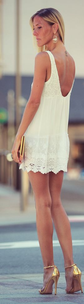 Style lover: Abercrombie  Fitch Cute Little White Lace Open Back Dress