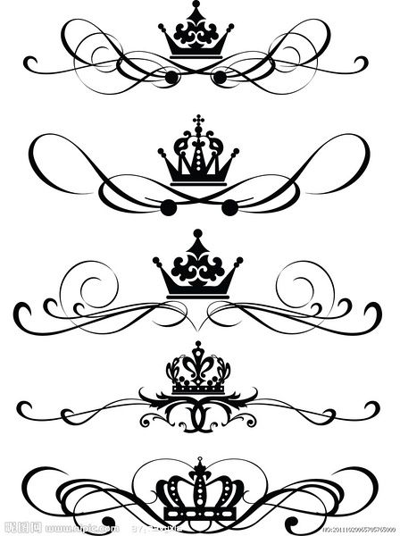 I would like to have just a crown tattoo. One of these.: