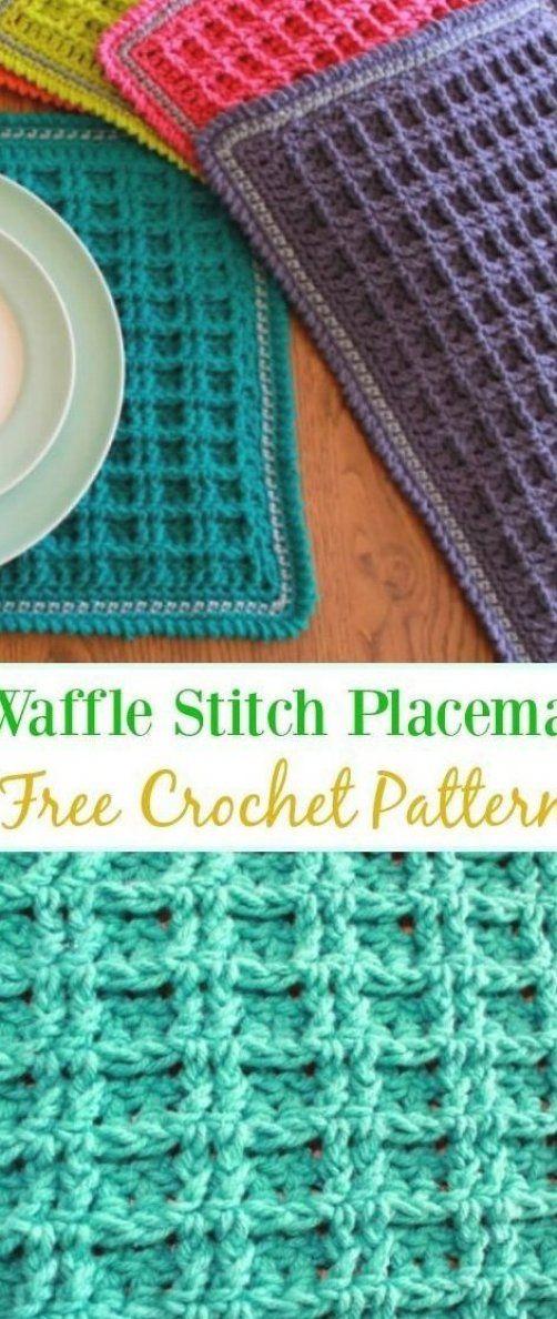 Crochet Double Waffle Stitch Placemat Pattern Knitting Patterns Knitting Patterns Free Crochet Waffle Stitch Crochet Placemat Patterns Placemats Patterns