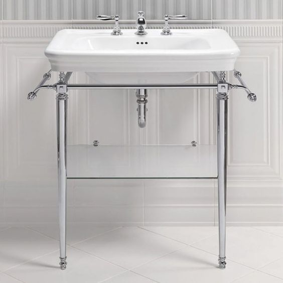 Traditional Metal Pipe Bathroom Vanity basin stand
