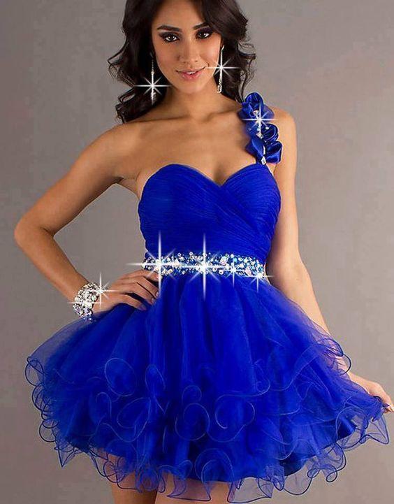 Venta Vestidos, Trajes Formles, Trajes Accesorios, Trajes Hermosos, 15 Azul, Azul Rey, Vestido Escote, Vestidos Azules, Corazón Tira