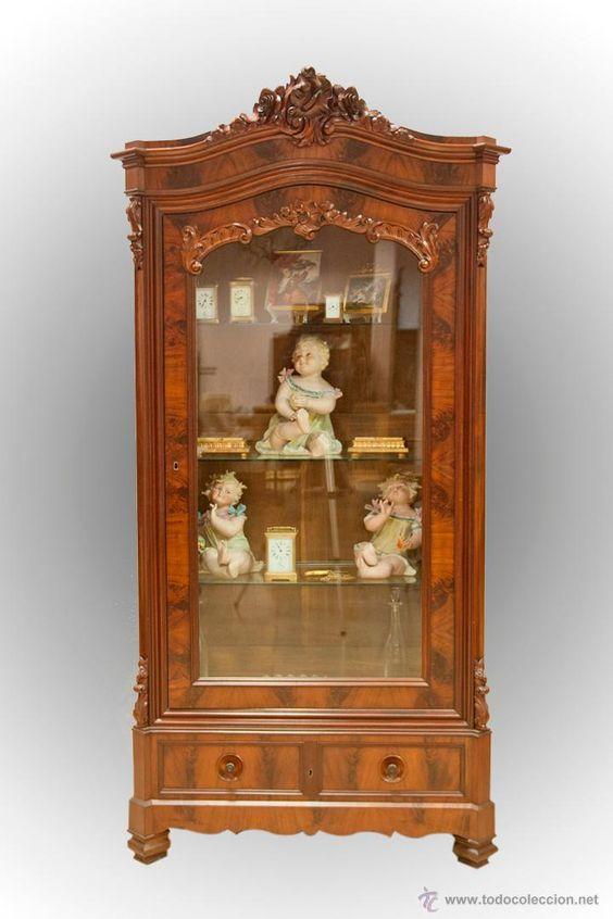 Vitrina francesa muebles antiguos en todocoleccion - Muebles antiguos malaga ...