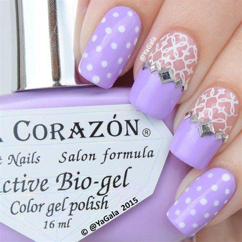 Elegant nails, Interesting nails, Lace nails, Lacy nails, March nails 2016, May nails, Nails with rhinestones, Original nails