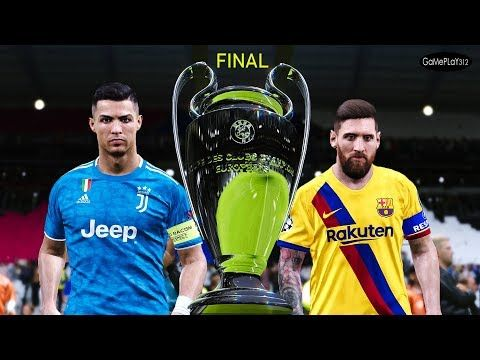Pes 2020 Barcelona Vs Juventus Final Uefa Champions League 2019 2020 Messi Vs Ronaldo Youtube In 2020 Messi Vs Ronaldo Uefa Champions League Ronaldo