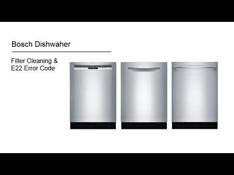 In This Post We Examine Some Common Bosch Dishwasher Error Codes E15 E22 E01 And E09 These Bosch Wash Bosch Washing Machine Bosch Dishwashers Dishwasher