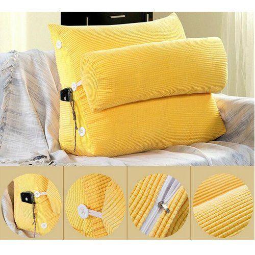 Cuscini Da Lettura.Kondrao Set Di 2 Cuscini In Tessuto Di Cotone Per Supporto Della