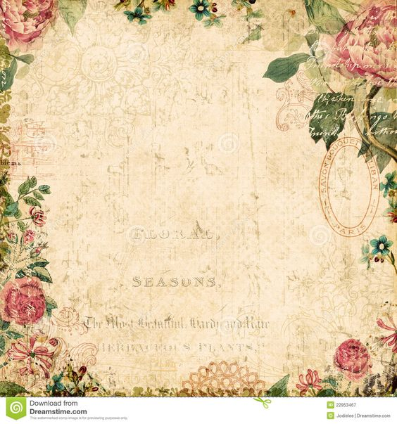 Vintage Style Botanical Floral Framed Background - Download From Over 26 Million High Quality Stock Photos, Images, Vectors. Sign up for FREE today. Image: 22953467: