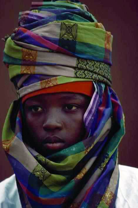 Africa | Hausa boy from Nigeria | Photographer unknown