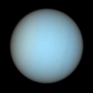 Natural colour of Uranus, credit University of Arizona.: