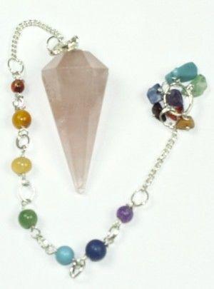 7 Chakra Pendulum – Rose Quartz